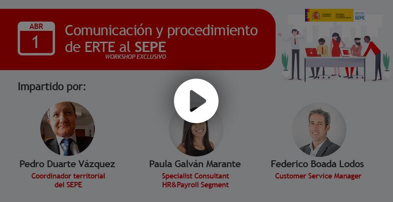 Comunicacion y procedimiento de ERTE al SEPE