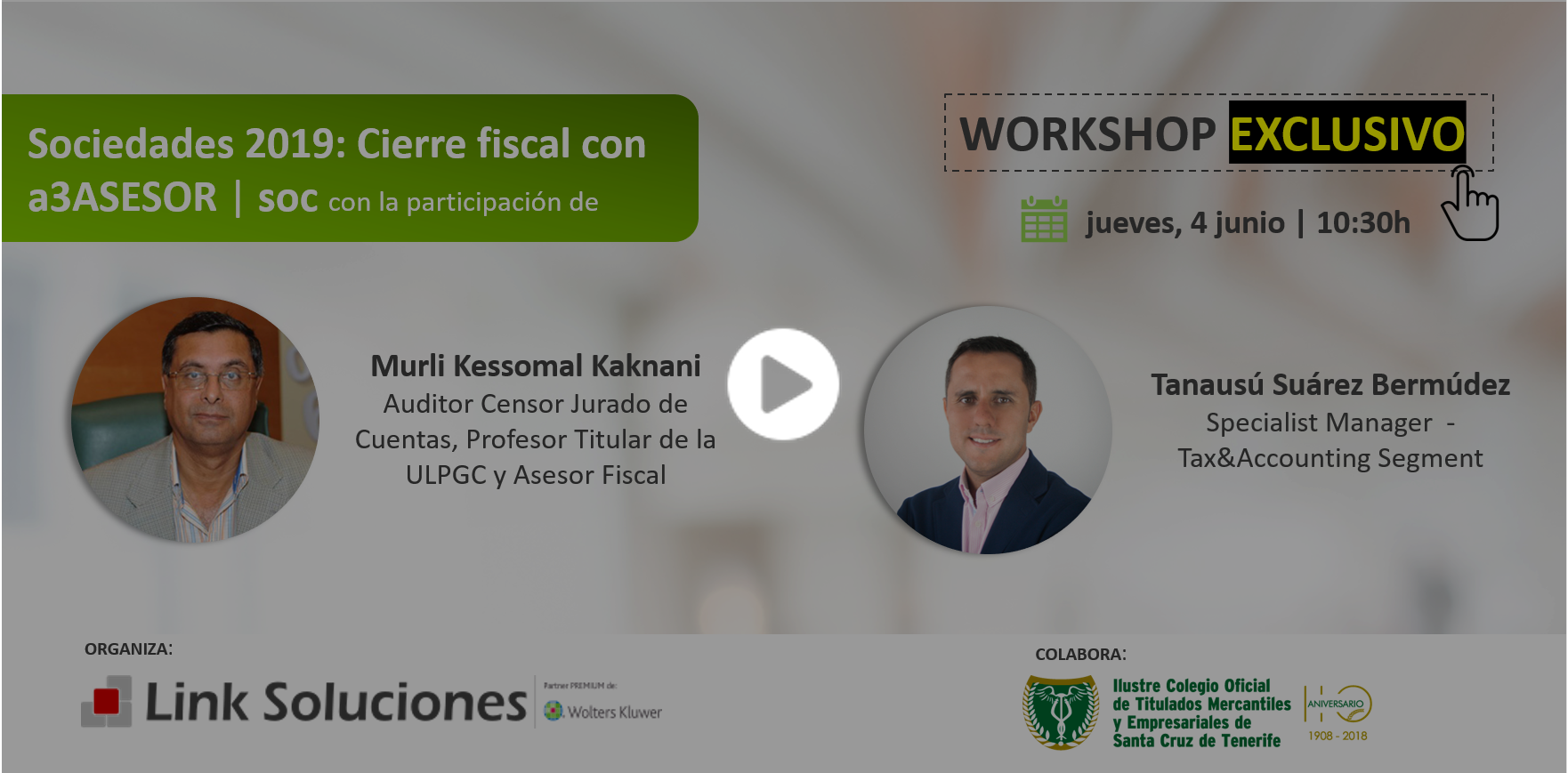 Workshop Sociedades 2019: Cierre fiscal con a3ASESOR | soc